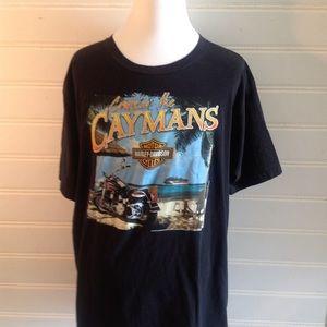 Harley Davidson cruise the cayman's t-shirt